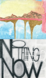 "Image: (composite) Top: ""Thin Support"", 2014 Bottom: ""No thing now (Descent of Alette)"", 2013"