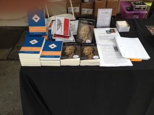 LFP's table at the Brooklyn Book Fest: